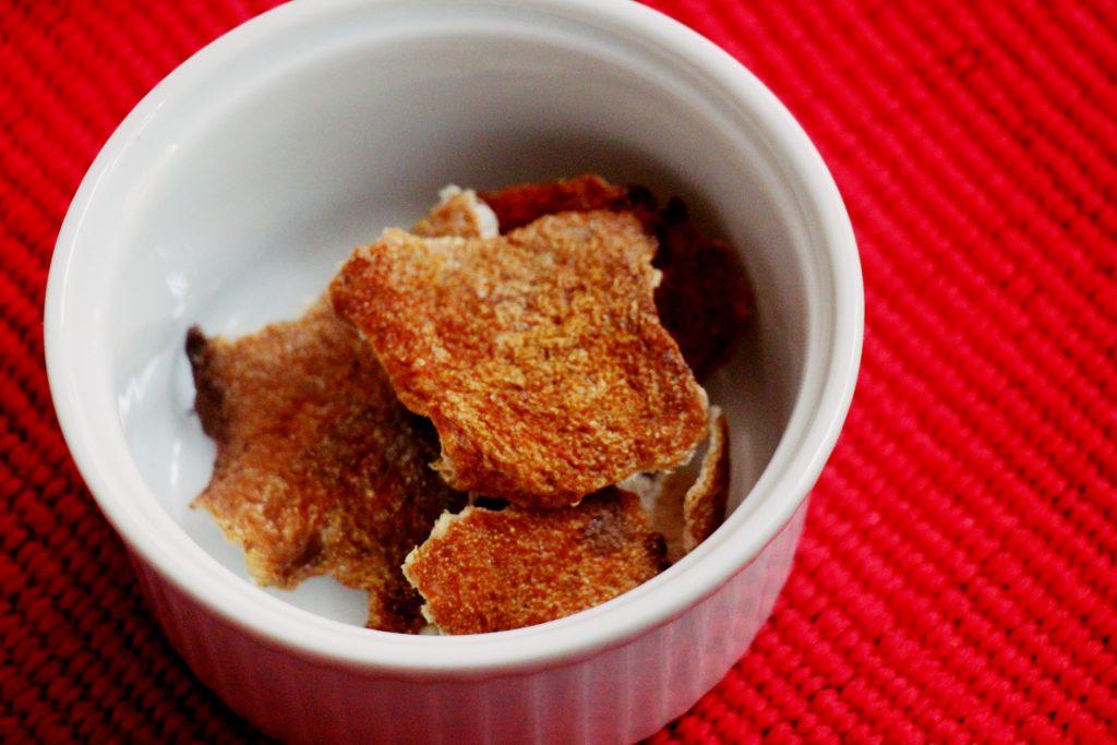 Dry and crispy orange peels