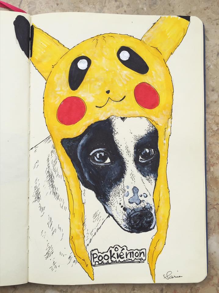 Her favorite Pookie in Pokémon's Pikachu beanie