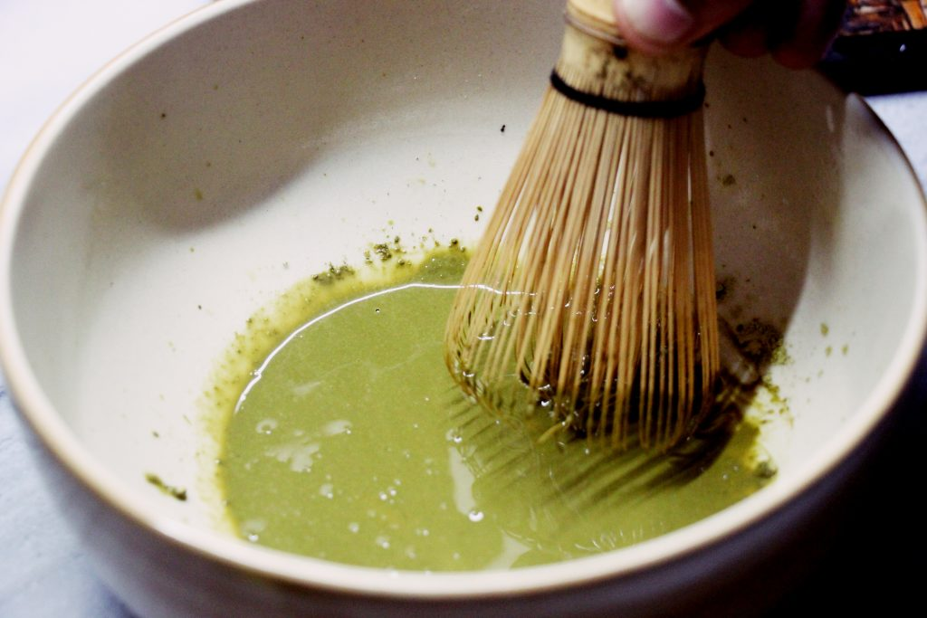 Whisk it in a little water to make a smooth paste